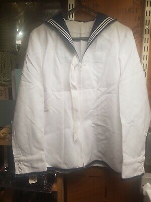 Genuine Naval Wrns Womens White Jumper Top Fancy Dress  • 18.50£