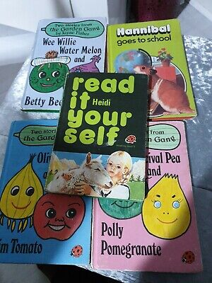 1970s Vintage  Ladybirds Books X 5 Classic Early Learning And Fiction Books • 10£