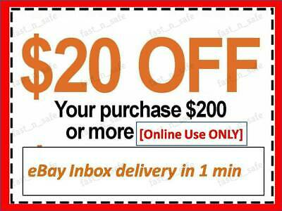 $1 • Buy ONE 1x Home Depot Coupon $20 OFF $200 ONLINE-USE-ONLY-- LNSTANT DELIVERY-NOW~~~~