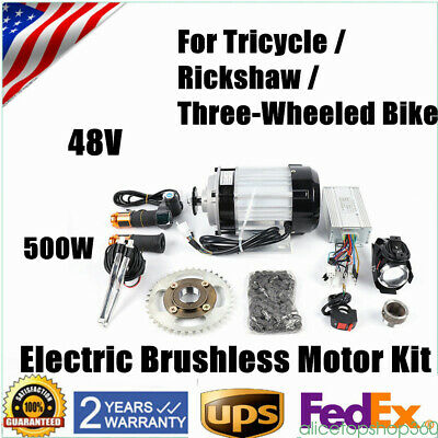 $358.80 • Buy 500W 48V Electric Brushless Motor Electric Tricycle Engine Motor E-Bike US SHIP
