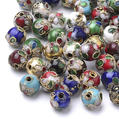$ CDN8.67 • Buy 20pcs Colorful Handmade Cloisonne Round Beads Mini Loose Spacer Beads Craft 8mm