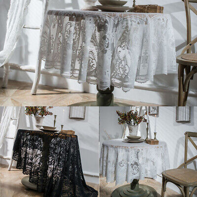 AU17.73 • Buy Vintage Table Cloth Lace Tablecloth Dining Round Table Cover Wedding Home Decor
