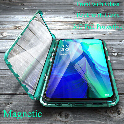 AU16.95 • Buy 360 Metal Magnetic 2 Sides Glass Phone Case Cover For Oppo Reno4 Z Pro A91 A72