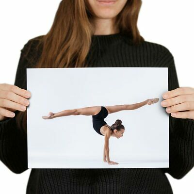 £3.99 • Buy A4  - Gymnast Gym Yoga Exercise Fitness Poster 29.7X21cm280gsm #45270