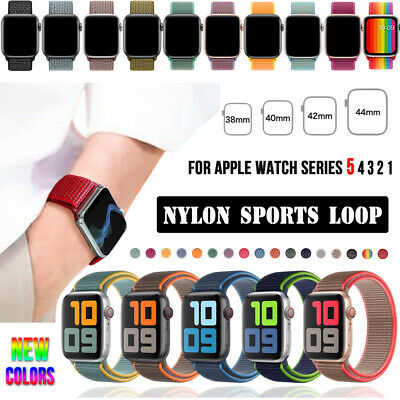 $ CDN4.99 • Buy 38/42/40/44mm Nylon Sports Loop IWatch Band Strap For Apple Watch Series 5 4 3 2
