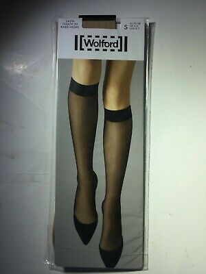 £8.51 • Buy Wolford Small Cosmetic Satin Touch 20 Knee Highs - Sheer Luxury Long Knee Socks