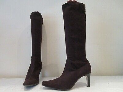 £17 • Buy Marks And Spencer Brown Stretch High Heel Pull On Boots Uk 7.5 (3532)