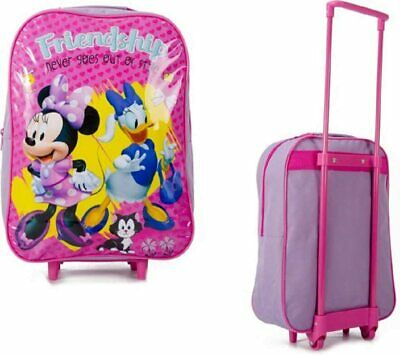 £11.49 • Buy Trolley Cabin Bag Kids Minnie Mickey Mouse Daisy Donald Duck Suitcase Kids Wheel