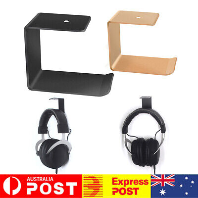 AU14.77 • Buy Simple Headphone Stand Hanger Hook Tape Under Desk Headset Mount Holder Novelty