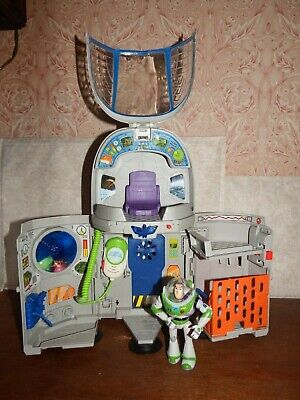 Toy Story Buzz Lightyear Star Spaceship Command Centre Figure Toy Playset TALKS! • 34.99£