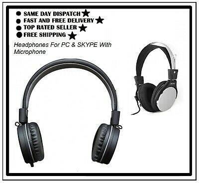 HIgh Quality Headphones For PC & SKYPE With Microphone - SAIYO SY-2070 • 7.90£