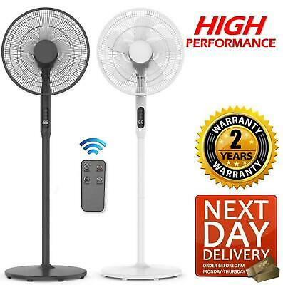 £49.95 • Buy Electric Air Cooling Pedestal Fan Floor Free Standing Stand Tower Remote Control