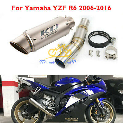 $85.16 • Buy Motorcycle Exhaust Tip Escape Connection Link Pipe For Yamaha YZF R6 2006-2016