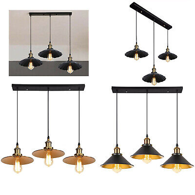 3 Way Modern Ceiling Pendant Cluster Light Fitting Industrial Pendant Lampshade • 44.89£