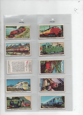 Trade Cards The Story Of The Locomotive Series 2 1963 Full Set • 3.99£