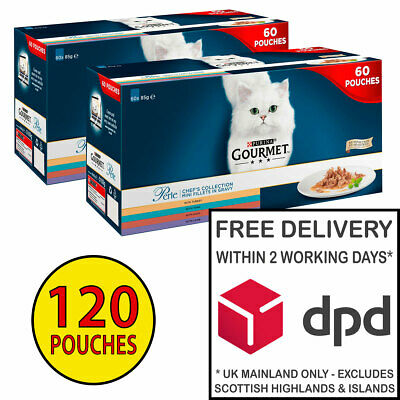 £44.99 • Buy Gourmet Perle Chef's Collection Cat Food In Gravy 2 X (60x85g) = 120 Pouches!