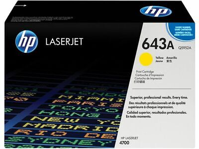 HP 643A Toner Cartridge, Q5952A, Yellow 10000 Pages, High Yield, Free P&P! • 500.99£