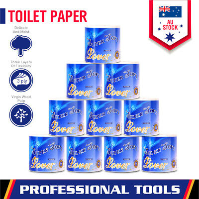 AU14.24 • Buy 10-Roll Premium Toilet Paper Rolls 3-PLY Soft Bath Tissue Value Pack Local Stock