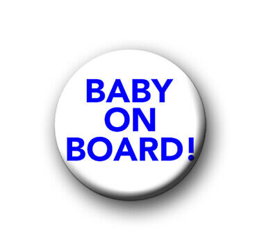 """BABY ON BOARD / 1"""" / 25mm Pin Button / Badge / Family / Mother / Father / Child • 0.99£"""