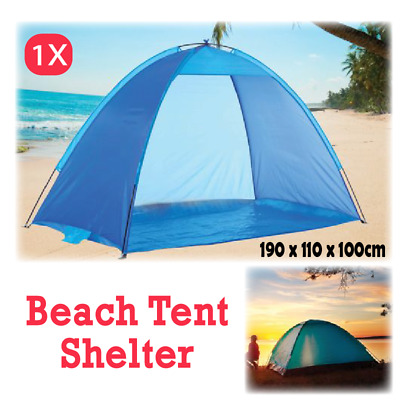 AU26.76 • Buy Pop Up Beach Tent Canopy UV Camping Fishing Mesh Sun Shade Shelter 4 Persons