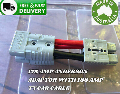 AU92.79 • Buy  Anderson Plug 175 Amp 2 B&s 188 Amp Auto Cable Connector Double Y Adaptor