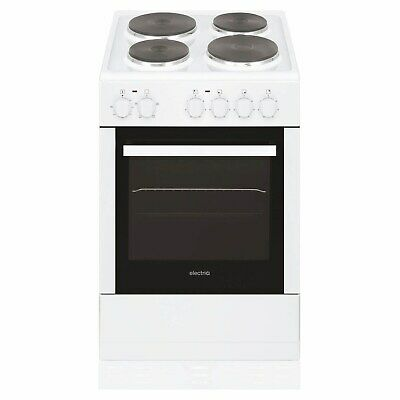 £179.96 • Buy ElectriQ 50cm Single Oven Electric Cooker With Sealed Plate Hob - White