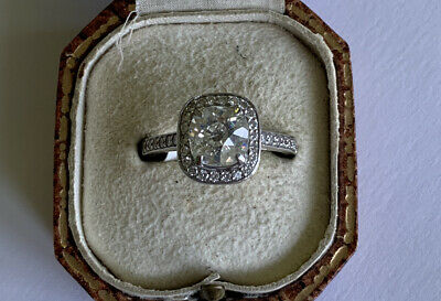 18ct Large Diamond Solitaire Single Stone Cluster Ring Approx 2ct Old Cut Size M • 3,500£