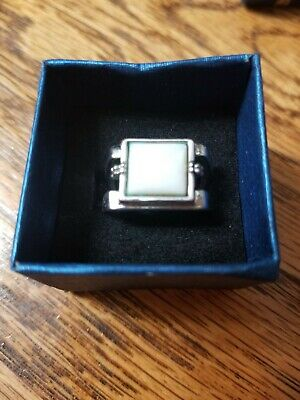 $ CDN23.72 • Buy Lia Sophia White Out Ring Size 6, Genuine Mother-Of-Pearl