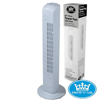 Prem-I-Air EH1870 Tower Fan With Timer And Speed Settings Standing Home Office • 31.99£