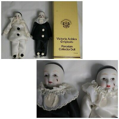 $ CDN40.53 • Buy House Of Global Art Porcelain Pierrot Sad Clown Doll Figure Lot Of 2