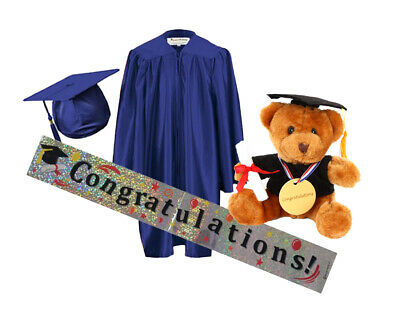 £26.50 • Buy Children's Nursery Graduation Gown And Hat Age 3--6 Year Kids---Celebration Pack