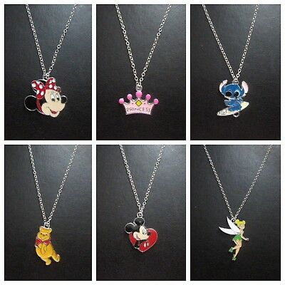 Childrens Necklace Minnie Tinkerbell Unicorn My Little Pony Pooh Minions Pokemon • 2.95£