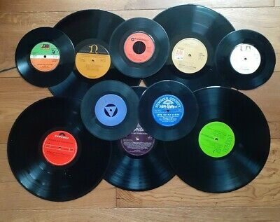 £7.50 • Buy Job Lot Of 5 X 12 Inch And 5 X 7 Inch Vinyl Records For Craft Upcycling Projects