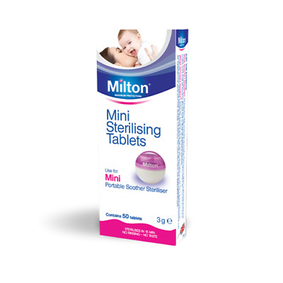 Milton Mini Sterilising Tablets | 50 Tablets UK PHARMACY • 3.98£
