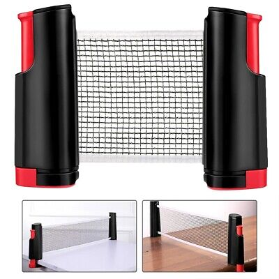 Retractable Portable Anywhere Table Tennis Net Rack Indoor Games Training Net • 11.99£