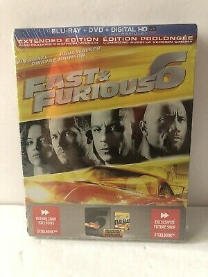 $ CDN39.99 • Buy Fast & Furious 6 Future Shop Exclusive Steelbook - Extended Edition Blu-ray