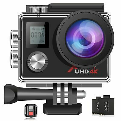 4K WiFi Action Camera Ultra HD Webcam PC Sports Camera Underwater 30M Campark • 35.90£