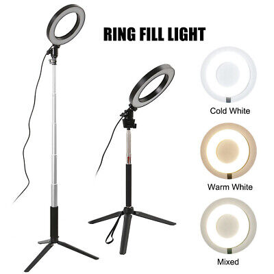 LED Ring Light+Tripod Stand Dimmable Photo Video Lamp Kit For Camera Studio 7.9  • 17.57£