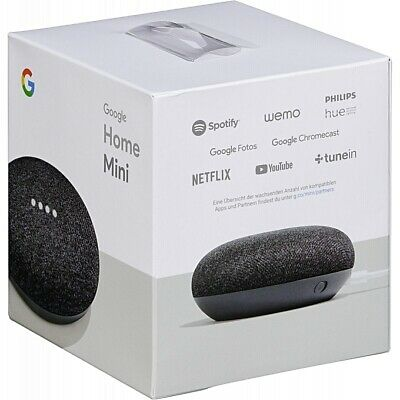 AU49.90 • Buy NEW Google Home Mini Smart Assistant (Charcoal) (Sealed In Original Box)!