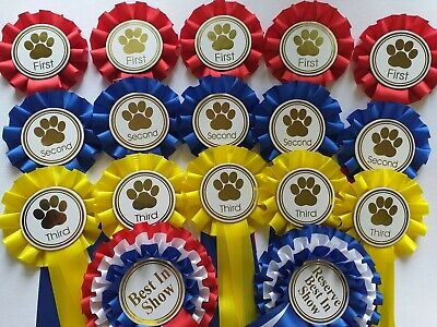 £13.99 • Buy Dog Show Complete Rosette 5 Sets 1st-3rd Best In Show & Res.Best In Show