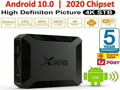 AU62.98 • Buy 2020 X96Q Smart Media TV Box **LATEST Android 10** 2GB Ram - 16GB HDD - 4K WiFi