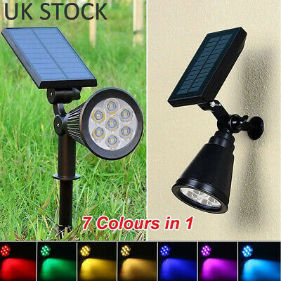 1-2 Solar Powered LED Waterproof Color-Changing Garden Lights Outdoor Party Lamp • 18.98£