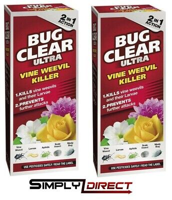 £22.99 • Buy 2x Bug Clear Ultra Vine Weevil Killer 2 In 1 Action - 480ml - Pest Control