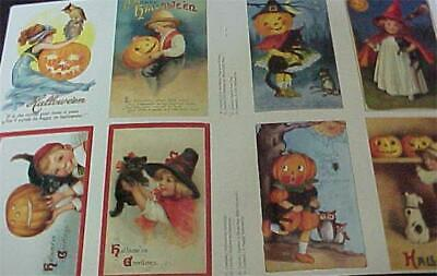 $ CDN21.40 • Buy Vintage 24 Old Fashion Halloween Cards Postcards Brundage Clapsaddle Repo's New