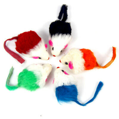 AU12.89 • Buy 10Pcs Rabbit Fur False Mouse Pet Cat Toy Mini Funny Playing Toys For Kitten