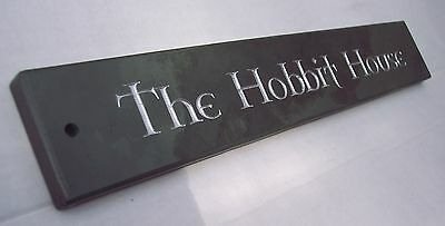 ENGRAVED SLATE HOUSE DOOR NAME PLAQUE/PLATE/NUMBER/SIGN - Made To Order • 19.99£