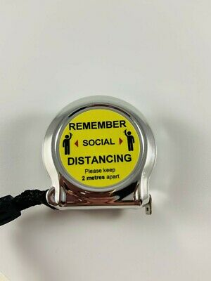 Tape Measure Pocket 2m Tape Measure Gift Fathers Social Distancing Keyring • 1.99£