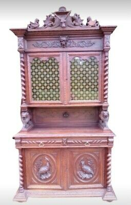 Wonderful Antique French Renaissance Hunting Dresser, 19th Century Gothic Buffet • 699£