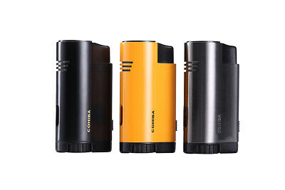 Cohiba Jet Cigar Lighter Three Flame Punch Fuel Level Window Windproof Child Loc • 24.90£