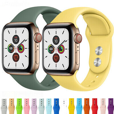 $ CDN5.21 • Buy Soft Sports Silicone Apple Watch Band 38 MM To 44 MM For IWatch Series 1 2 3 4 5